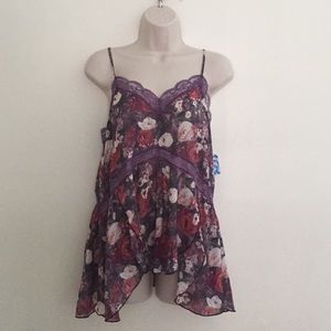 Free People XS Plumb Combo Trapeze Camisole NWT